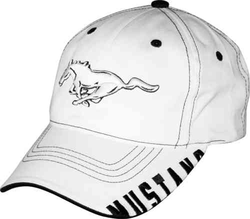 "Ford Mustang Cap ""White Pony"""