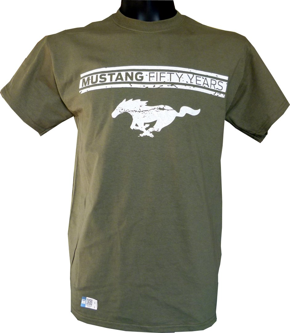 Mustang T Shirt Vintage Green Us Car And Nascar Fashion