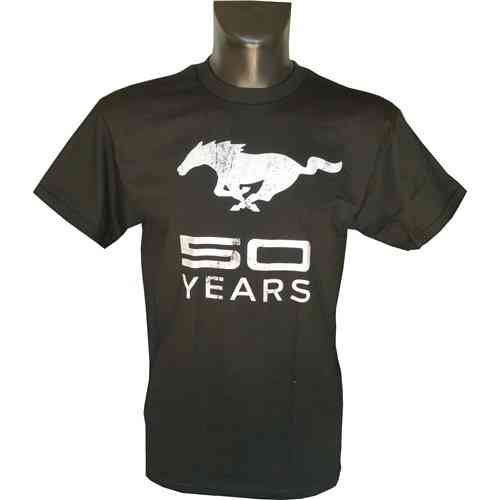 "Mustang T-Shirt ""50th anniversary"" - blk./silver"