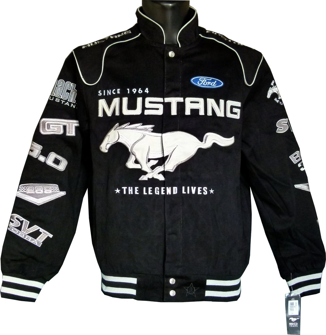 mustang 50th anniversary jacke us car und nascar bekleidung. Black Bedroom Furniture Sets. Home Design Ideas