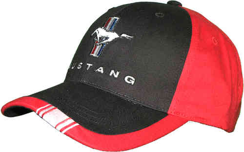 "Mustang Cap ""red/blk."""
