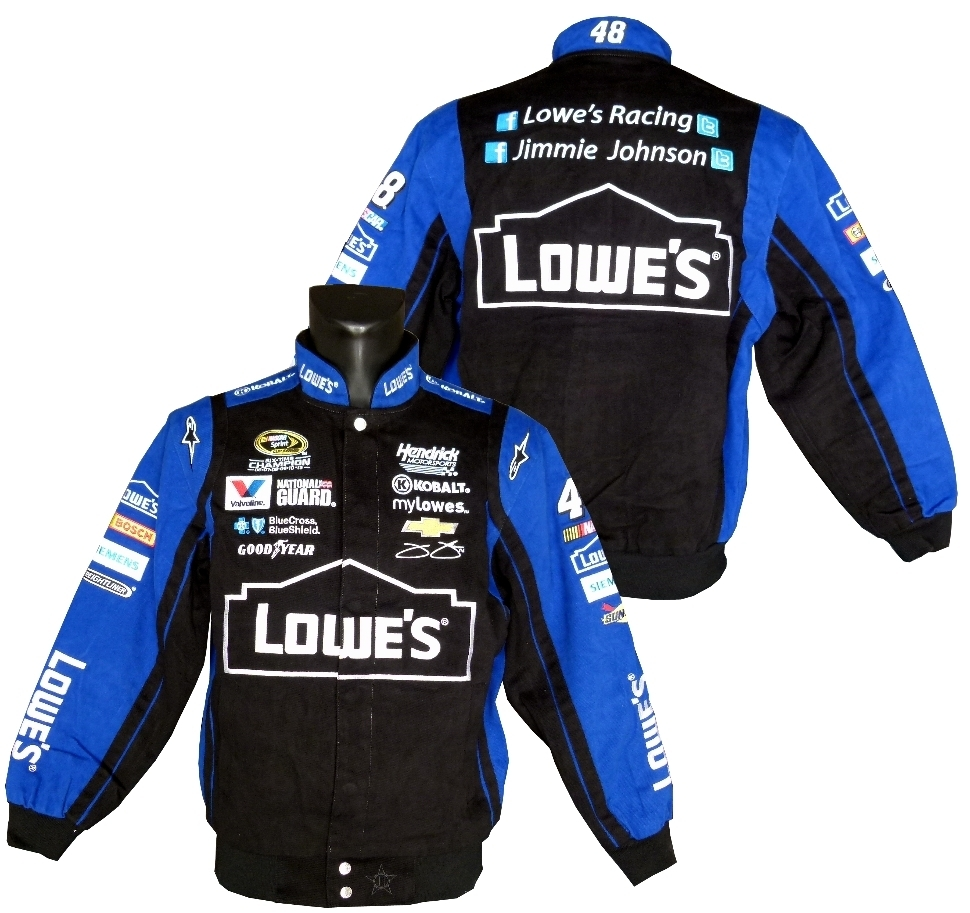 Lowes 48 Jimmie Johnson Blk Roy Us Car And Nascar Fashion