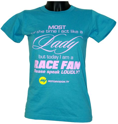 """Lady Race Fan"" , colour ""Swimming Pool"""