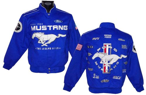 MUSTANG jacket - Limited Collage 2018 - blue
