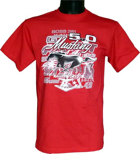 "Mustang T-Shirt ""Collage"" - red - 2019"