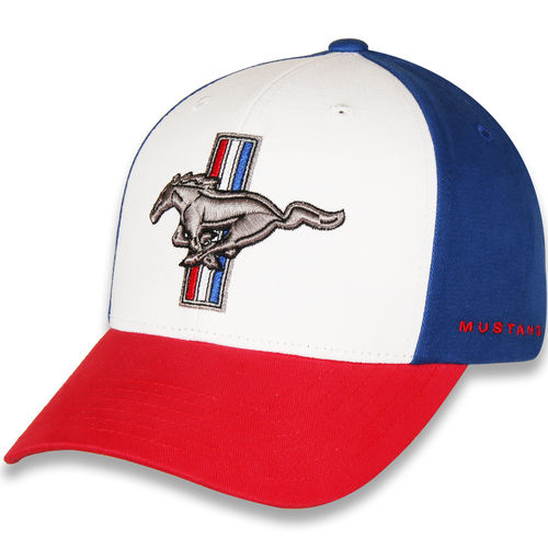 "Mustang Cap ""Pony"" - res-white-blue"