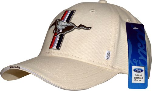 "Mustang Cap ""Tribar-Pony"" - cremeweiß"
