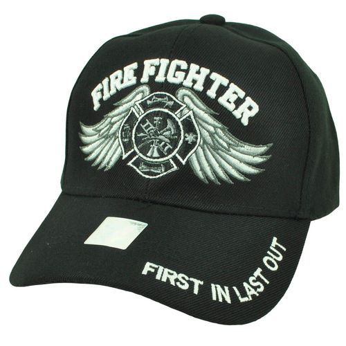 "Fire Fighter - ""First in - last out"" - blk."