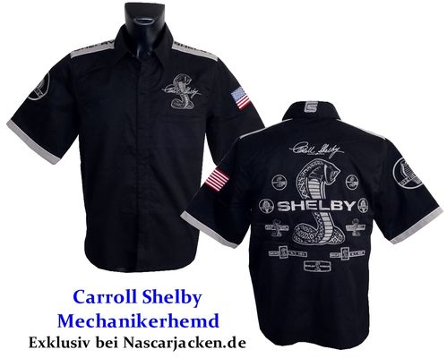 Carroll Shelby Pit-Shirt - 2018. US-Import.