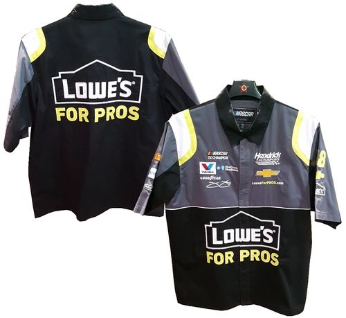 "Jimmie Johnson ""Lowes"" pit shirt"