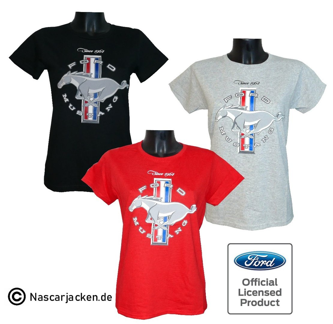 Ford Mustang Damen-Shirt in 3 Farben