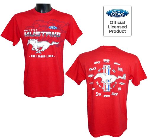 "Mustang T-Shirt ""Collage"" - red - 2020"