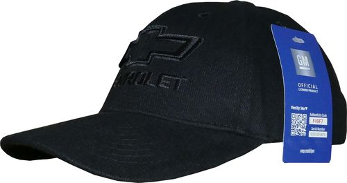 "Chevrolet Basecap - ""Black on Black"""
