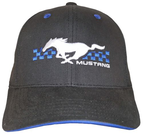 "Mustang Cap ""Pony"" - Checkered Flag"
